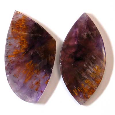 "Discontinued - Amethyst Cacoxenite Cabochon ""Free-Form\"" (Brazil)"