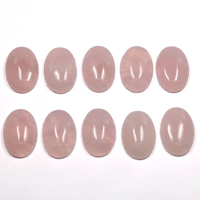 Cabochon - Rose Quartz Crystal Cabochons photo 3