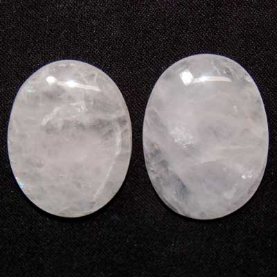Cabochons - Rose Quartz Oval Cabochon (India)