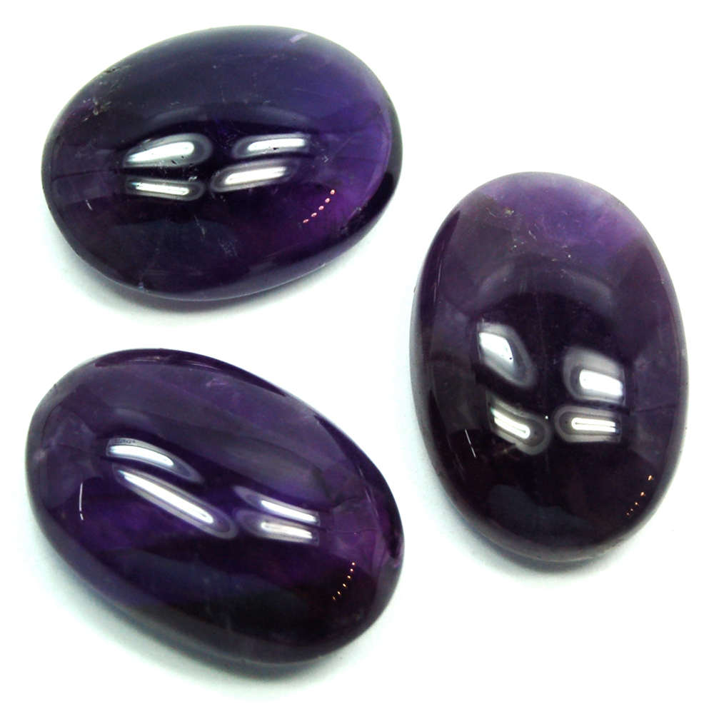 "Cabochons - Amethyst Oval Cabochon ""Extra\"" (India)"