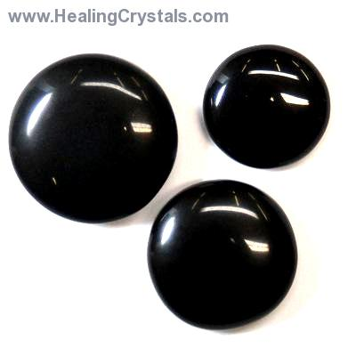 Cabochons - Black Agate Cabochon (India)