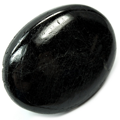 Cabochons - Black Tourmaline Cabochon (India)