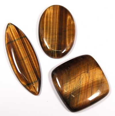 Cabochon - Tiger Eye (Gold/Brown) Cabochons photo 6