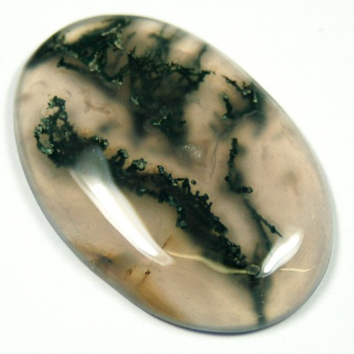 "Cabochons - Moss Agate Cabochon ""Free Form\"" (India)"