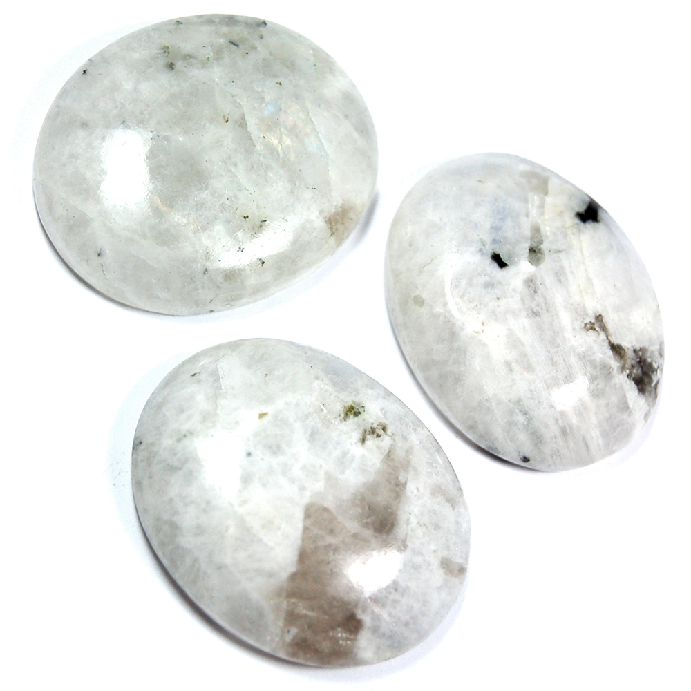 Cabochons - Rainbow Moonstone Cabochon - Free-Form (India)