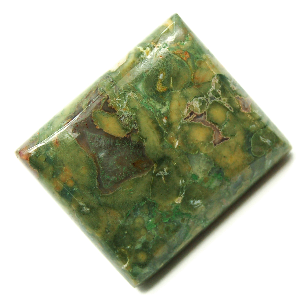 "Discontinued - Rainforest Rhyolite Cabochon ""Free-Form\"" (India)"