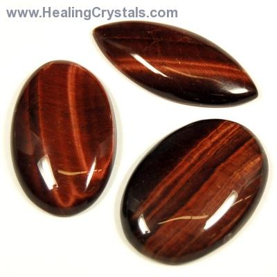 Cabochons - Red Tiger Eye Cabochon (S Africa)