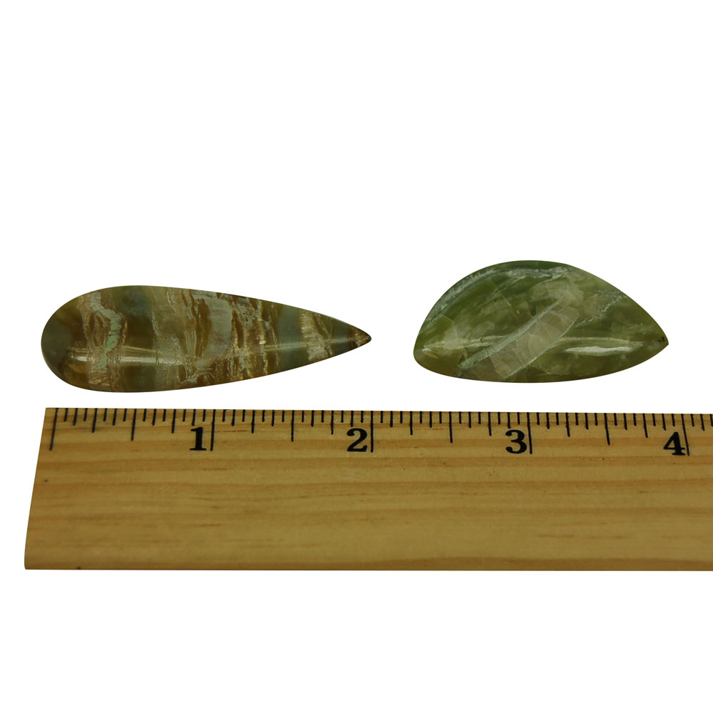 Cabochons - Scottish Highland Green Marble Cabochon