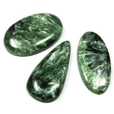 "Cabochons - Seraphinite Cabochon ""Free-Form\"" (India)"