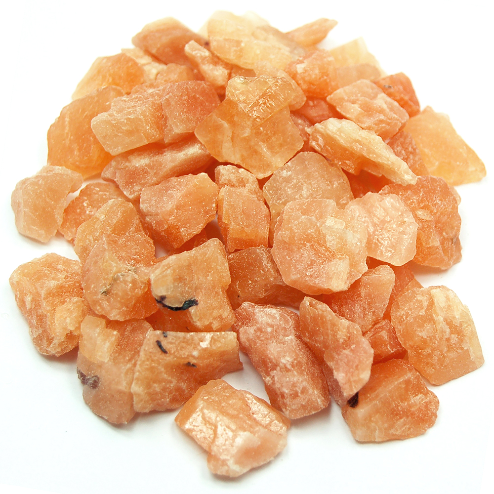Calcite - Orange Calcite Chips/Chunks (Canada)