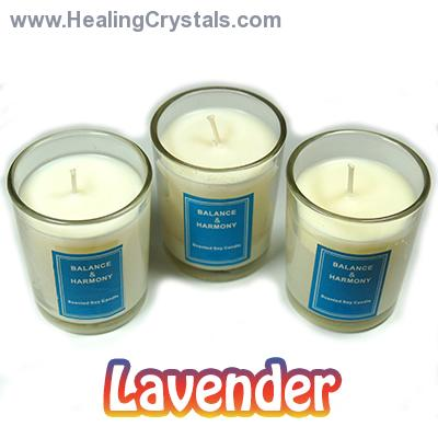 "Discontinued - 2"" Votive Candles in a Jar (Set/3) - Lavender"