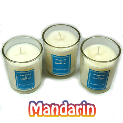 "Candles - 2"" Votive Candles in a Jar (Boxed Set/3) - Mandarin"