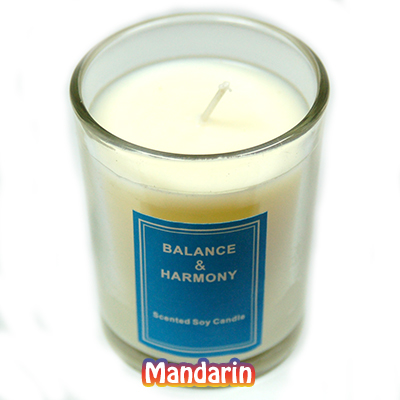 "Discontinued - 2"" Votive Candles in a Jar (Set/3) - Mandarin"