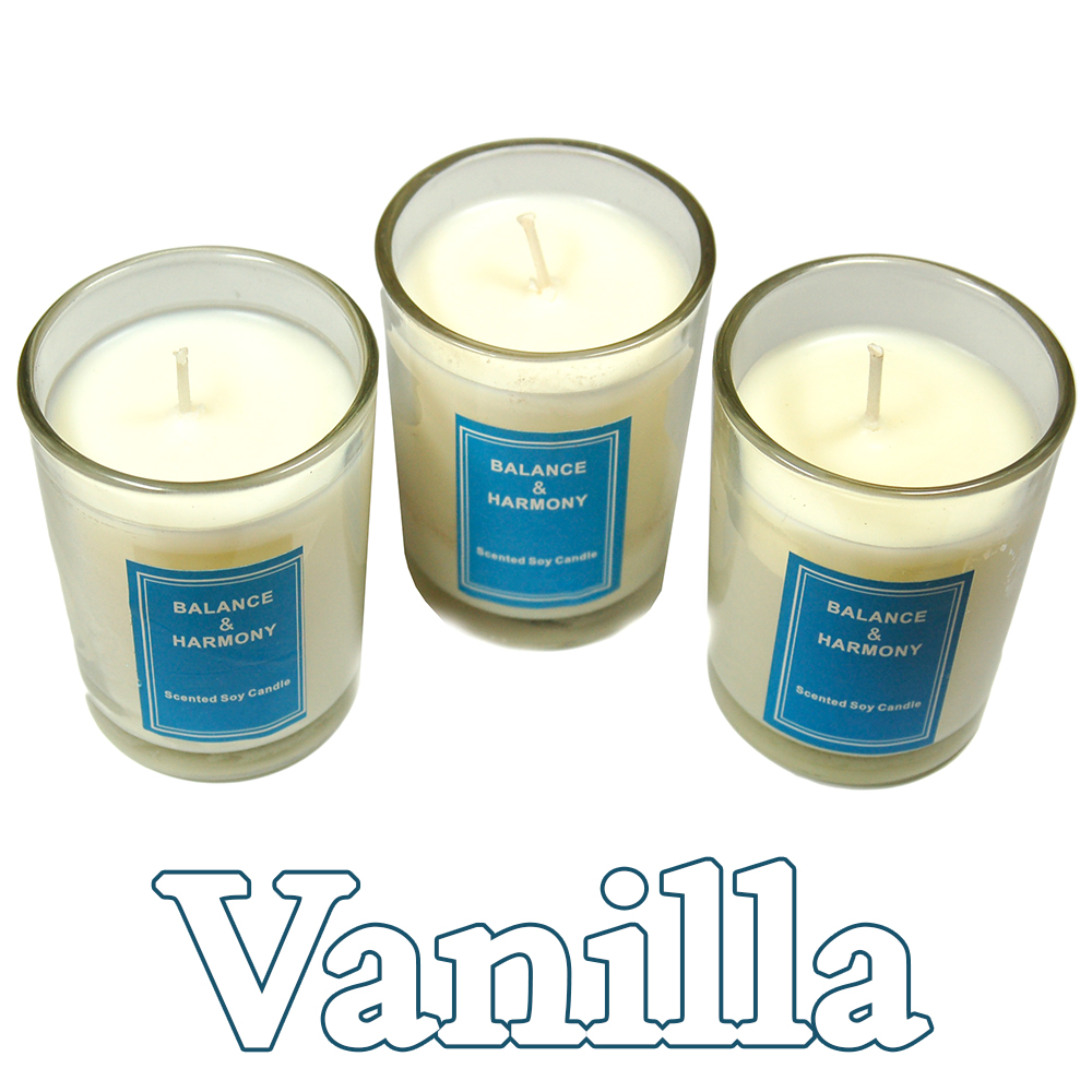 "Candles - 2"" Votives Candles in a Jar (Boxed Set/3) - Vanilla"