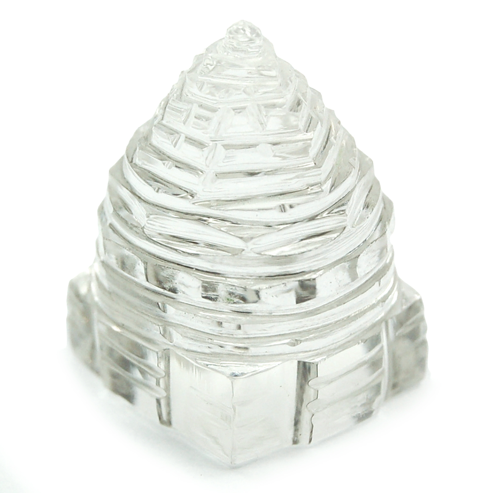 Carved Shree Yantra - Clear Quartz (India)