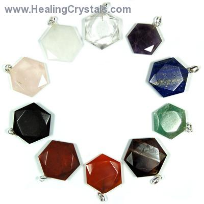Pendants - 10pc. Chakra Star of David Pendant Set (India)