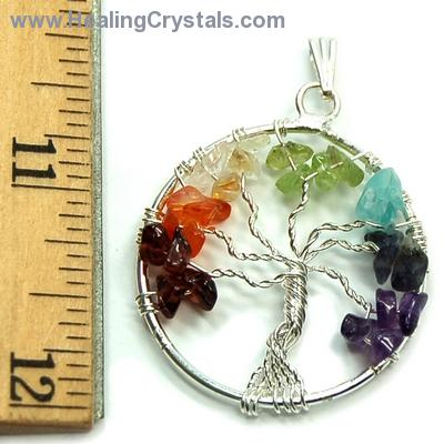 Chakra Pendants - 7 Chakra Tree of Life Pendant (India)
