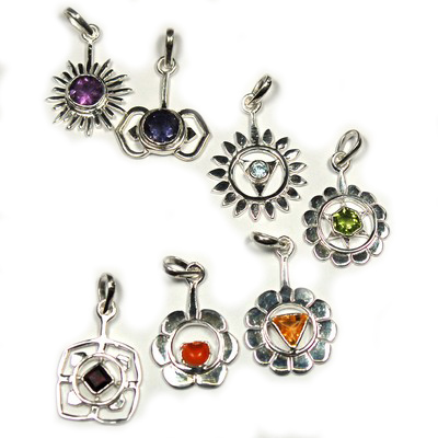 Chakra Gemstone Pendants (7pcs.) - One for each Chakra! photo 4