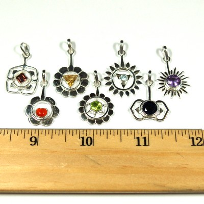 Chakra Gemstone Pendants (7pcs.) - One for each Chakra! photo 5
