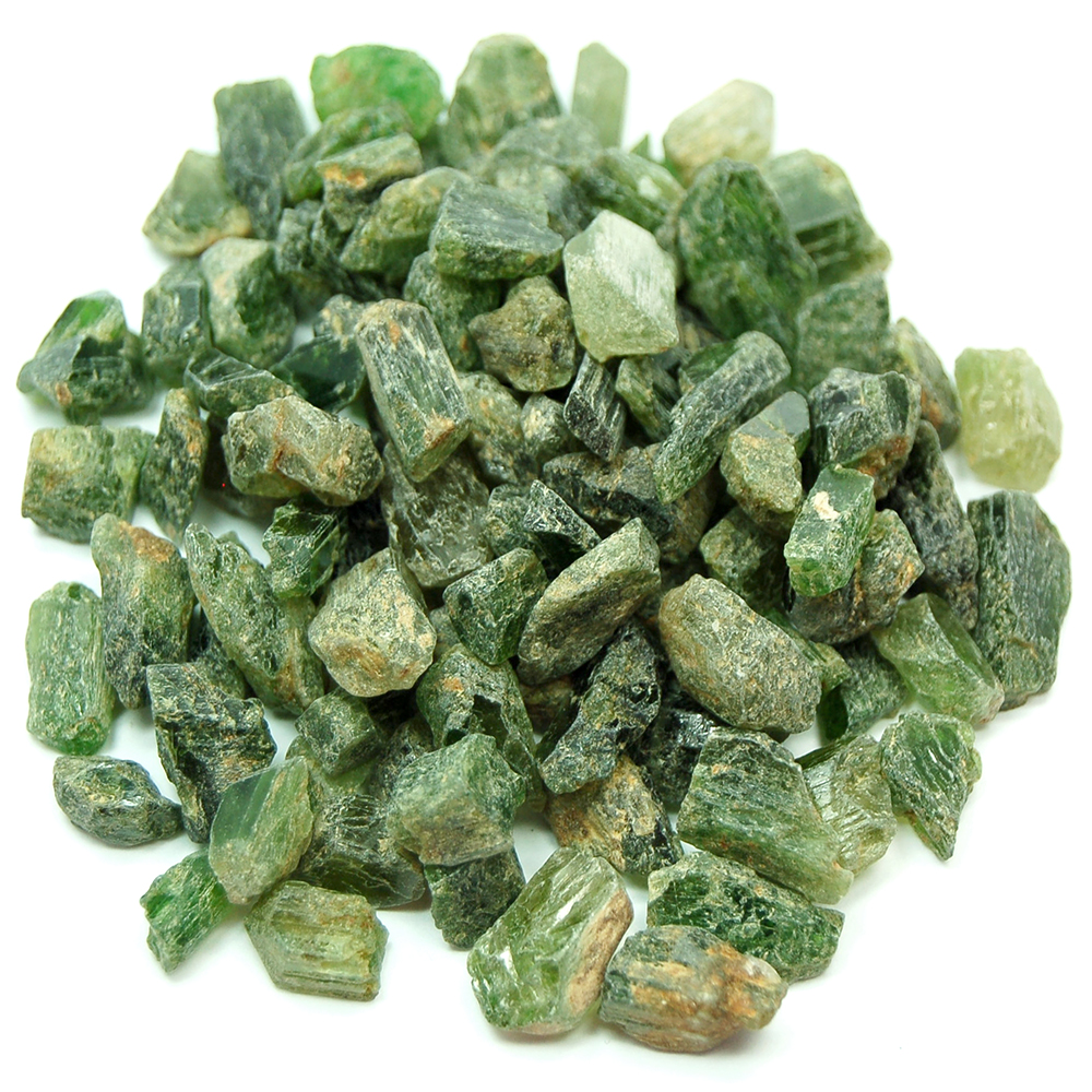 "Discontinued - Chrome Diopside Chips ""B\"" Grade (Pakistan)"