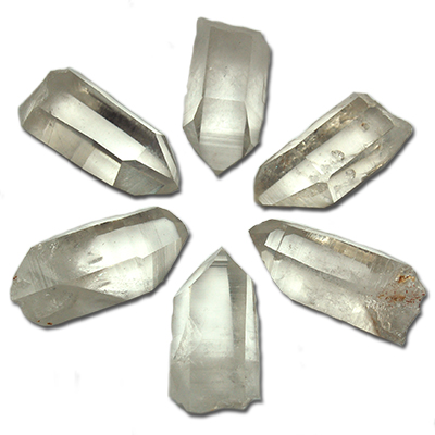 Clear Quartz - Clear Quartz GRID SET - Points (Arkansas)