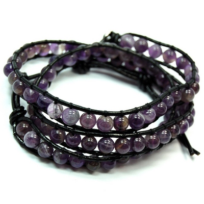 Amethyst Chan-Luu Style Bracelets