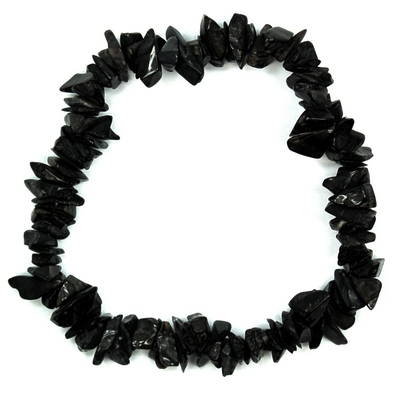 Bracelets - Black Agate Single Strand Bracelet (India)