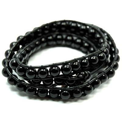 "Discontinued - Black Onyx ""Chan Luu"" Style Bracelet (China)"