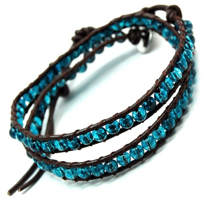 "Discontinued - Blue Topaz ""Chan Luu"" Style 3mm Bracelet"