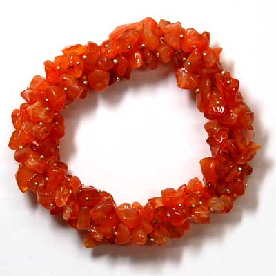 Tumbled Carnelian Cluster Bracelet
