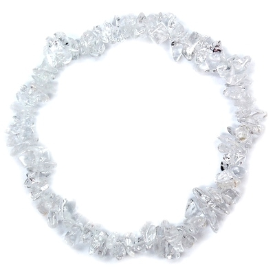 Bracelets - Clear Quartz Single Strand Bracelet (India)