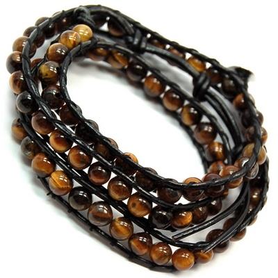 "Discontinued - Golden Tiger Eye ""Chan Luu"" Style Bracelet"