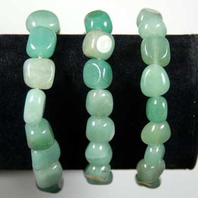 Bracelets - Green Aventurine Nugget Bracelet (China)