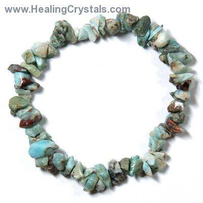 Bracelets - Larimar Single Strand Bracelet (India)
