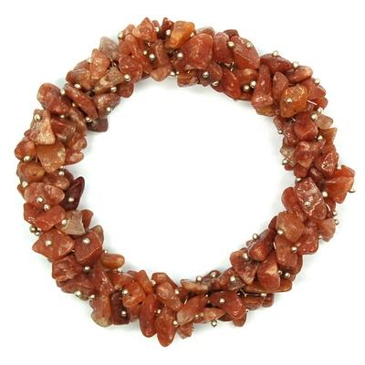 Orange Aventurine Cluster Bracelet