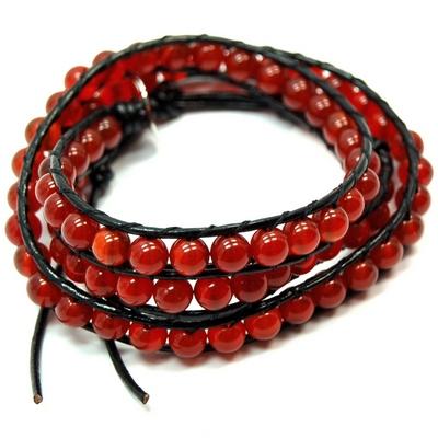 Red Carnelian Chan Luu style wrap bracelets