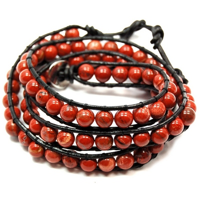 "Discontinued - Red Jasper ""Chan Luu"" Style Bracelet"