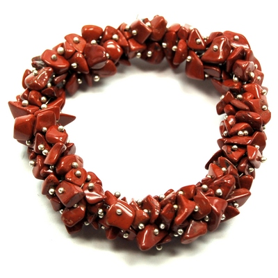 livemaster item bracelets handmade cuff buy jas beaded leather jewelry bracelet jasper stone row