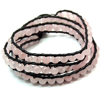 "Bracelets - Rose Quartz ""Chan Luu"" Style Bracelet (China)"