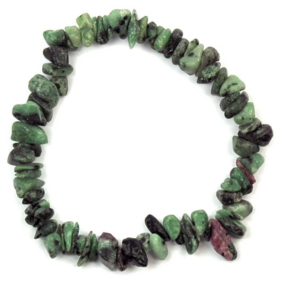 Bracelets - Ruby in Zoisite Single Strand Bracelet (India)