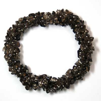 Bracelets - Smokey Quartz Cluster Bracelet (Dark) (India)