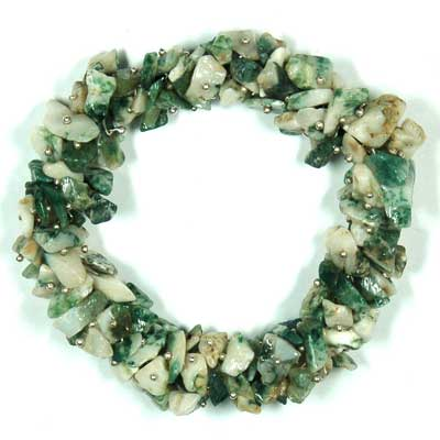 Discontinued - Tree Agate Cluster Bracelet (India)
