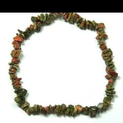 Bracelets - Unakite Single Strand Bracelet (India)