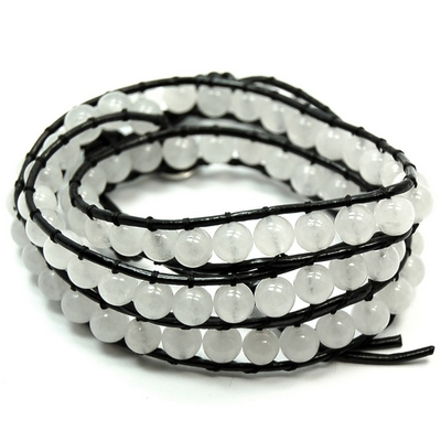 "Discontinued - White Aventurine ""Chan Luu"" Style Bracelet"
