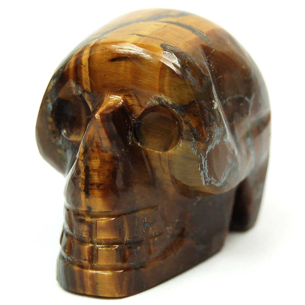 Discontinued - Golden Tiger Eye Mini-Skull (India)