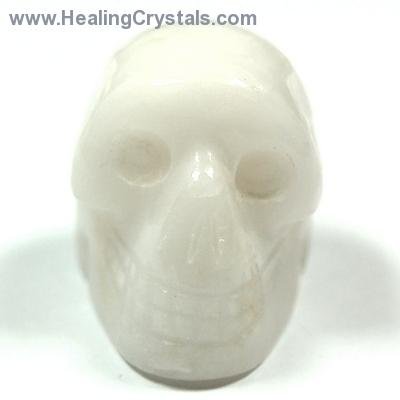 Discontinued - White Aventurine Mini-Skull (India)