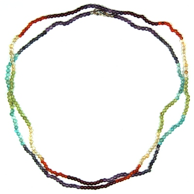 Necklaces - 7 Chakra 3mm Round Bead Necklace (India)