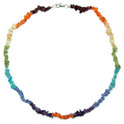 7 Chakra Tumbled Chips Necklace #1 (India)