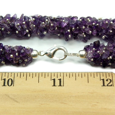 Necklaces - Amethyst Cluster Necklace (India)