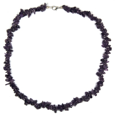 Necklaces - Amethyst Tumbled Chips Necklace (India)